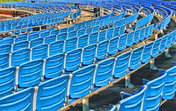 Blue Seats in An Outdoor Arena Royalty Free Stock Images