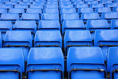Blue seats in row Royalty Free Stock Images
