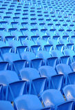 Blue seats in stadium Stock Photography