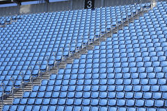 Blue seats in stadium Royalty Free Stock Photography