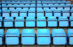Blue Seats On Stadium Stock Photo