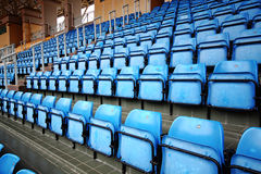 Blue Seats On Stadium Stock Images