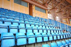 Blue Seats On Stadium Royalty Free Stock Images