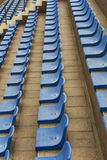 Blue seats on stadium Royalty Free Stock Photo