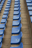 Blue seats on stadium Royalty Free Stock Image