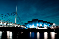 Blue SECC & Bells Bridge Royalty Free Stock Photos