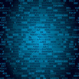 Blue security background with HEX-code Royalty Free Stock Image