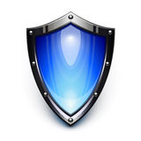 Blue security shield Stock Photo