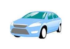 Blue Sedan Car Royalty Free Stock Image