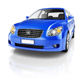 Blue Sedan Car Royalty Free Stock Photography