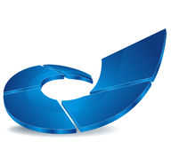 Blue segments icon Stock Photo