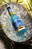 Blue segrams bottle Stock Images