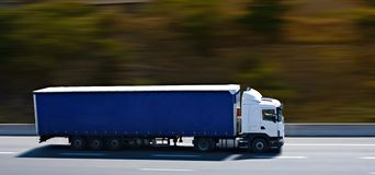 The blue semi truck Stock Photography