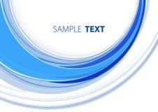 Blue semicircle Stock Image
