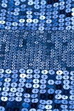 Blue sequin background Royalty Free Stock Images