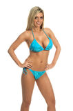 Blue Sequin Bikini royalty free stock photography