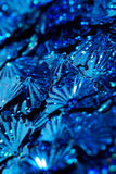 Blue sequins Stock Images