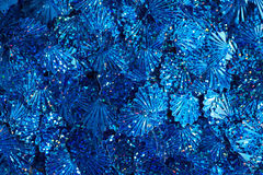 Blue sequins Stock Image