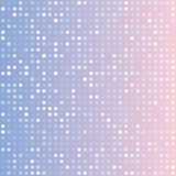 Blue serenity and pink rose quartz gradient background of multiples dots. Fashion trends circles backdrop. Vector illustration. May use for modern background Royalty Free Stock Photography