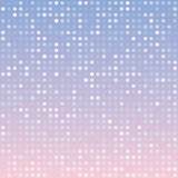 Blue serenity and pink rose quartz gradient background of multiples dots. Fashion trends circles backdrop. Vector illustration. May use for modern background Stock Photo
