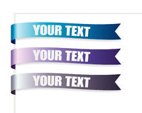 Blue Series Ribbon Royalty Free Stock Photos