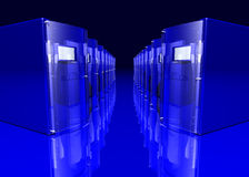 Blue servers Stock Photography