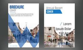 Blue set cover business brochure vector designs, Leaflet advertising abstract backgrounds. Modern poster flyer magazine. Layout template. Annual report for Royalty Free Stock Photos