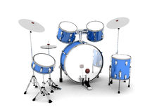 Blue set of drums Stock Photo