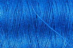 Blue Sewing Yarn Stock Photos