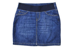 Blue sexy jeans skirt isolated on white Stock Images