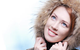 Blue sexy winter eyes Royalty Free Stock Image
