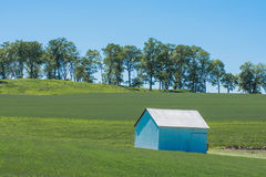 Blue Shade Shed Royalty Free Stock Image