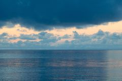 Blue shades for a beautiful sunrise in raja ampat archipelago. Gam island Stock Photography