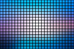 Blue shades pink abstract rounded mosaic background over black Royalty Free Stock Photos