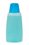Blue shampoo bottle Royalty Free Stock Image