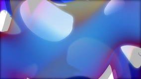 Blue shape random transforming stock footage