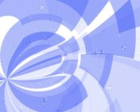 Blue shapes. In motion stock illustration