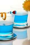 Blue shark cocktail Royalty Free Stock Images