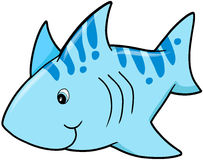 Blue shark Vector Royalty Free Stock Images