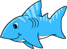 Blue Shark Vector. Cute Blue Shark Vector Illustration Stock Image