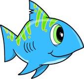 Blue Shark Vector Illustration Royalty Free Stock Images