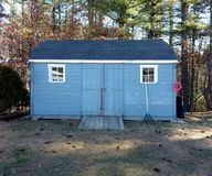 Blue Shed Royalty Free Stock Photos