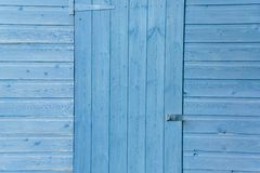 Blue shed door Royalty Free Stock Image