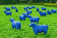 Blue Sheep. The art exhibition - Blue sheep Stock Photos