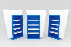Blue shelves Stock Photo