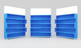 Blue shelves Royalty Free Stock Photo