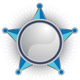 Blue Sheriff Star stock photo