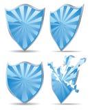 blue shield Zdjęcia Stock