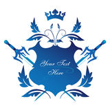 Blue shield Stock Image