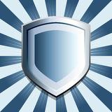 Blue shield background Royalty Free Stock Images